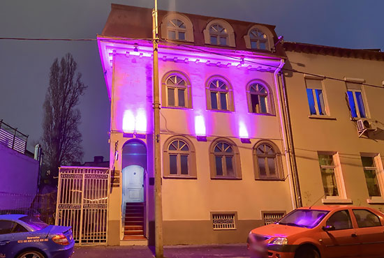The headquarters of our erotic massage parlor on 72b Caderea Bastiliei Street