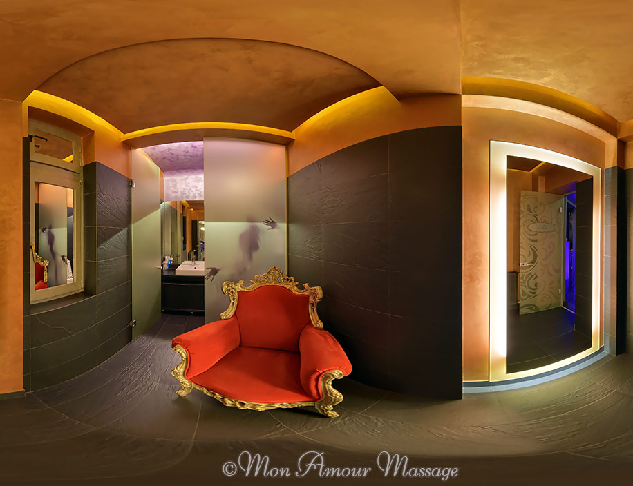 The Mon Amour erotic massage parlor Bucharest - Downstairs bathroom